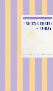 Cover of: The Nicene Creed for today