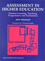 Cover of: Assessment in higher education