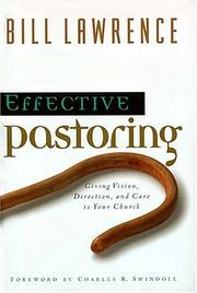Cover of: Effective pastoring