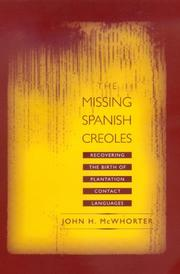 Cover of: The missing Spanish creoles