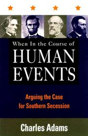 Cover of: When in the course of human events
