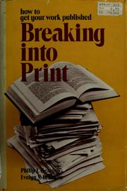 Cover of: Breaking into print