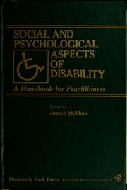 Cover of: Social and psychological aspects of disability