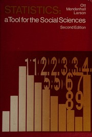 Cover of: Statistics: a tool for the social sciences