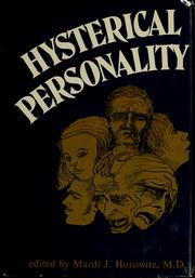 Cover of: Hysterical personality