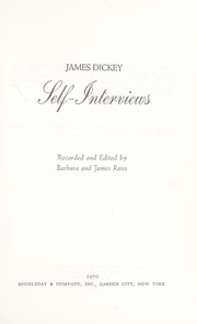 Cover of: Self-interviews
