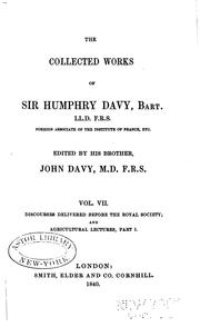 Cover of: The collected works of Sir Humphry Davy