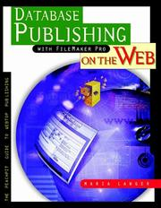 Cover of: Database publishing with FileMaker Pro on the web