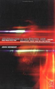 Cover of: Journalism in the Digital Age