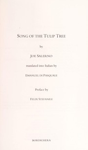Cover of: Song of the tulip tree