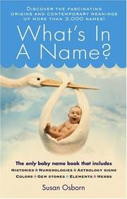 Cover of: What's in a name?