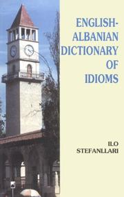 Cover of: English-Albanian dictionary of idioms