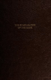Cover of: The stabilization of the mark