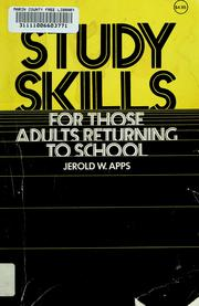 Cover of: Study skills, for those adults returning to school