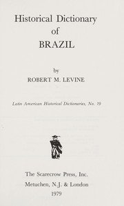 Cover of: Historical Dictionary of Brazil