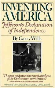 Cover of: Inventing America: Jefferson's Declaration of independence