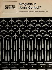Cover of: Progress in arms control?: Readings from Scientific American