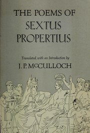 Cover of: The poems of Sextus Propertius
