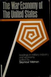 Cover of: The war economy of the United States
