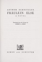 Cover of: Fräulein Else: Novelle