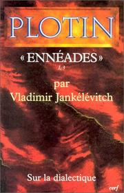 "Cover of: Plotin, ""Ennéades"" I, 3"