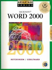 Cover of: Microsoft Word 2000 complete edition