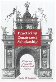 Cover of: Practicing Renaissance scholarship
