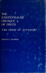 Cover of: The existentialist critique of Freud