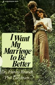 Cover of: I want my marriage to be better