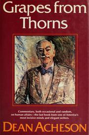 Cover of: Grapes from thorns