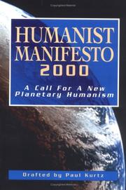 Cover of: Humanist manifesto 2000: a call for a new planetary humanism