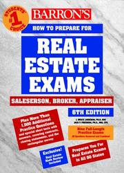 Cover of: Barron's how to prepare for the real estate examination