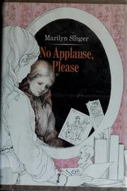 Cover of: No applause please