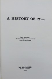 Cover of: A history of [pi] (pi)