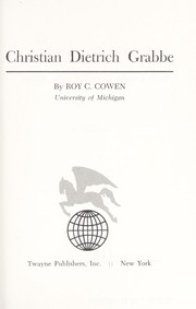 Cover of: Christian Dietrich Grabbe