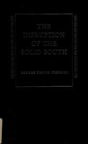 Cover of: The disruption of the solid South