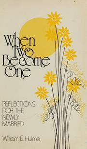 Cover of: When two become one