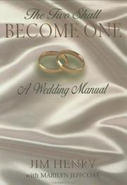 Cover of: The two shall become one