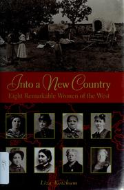 Cover of: Into a new country