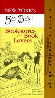 Cover of: New York's 50 best bookstores for book lovers