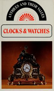 Cover of: Clocks and watches