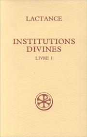Cover of: Institutions divines