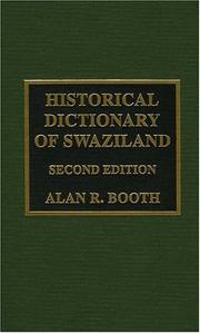 Cover of: Historical dictionary of Swaziland