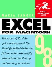 Cover of: Excel 98 for Macintosh
