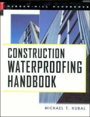Cover of: Construction waterproofing handbook