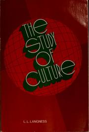 Cover of: The study of culture