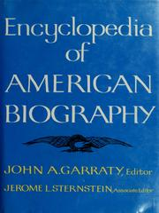 Cover of: Encyclopedia of American biography.