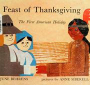 Cover of: Feast of Thanksgiving, the first American holiday: a play.
