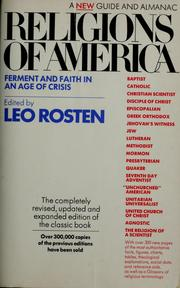 Cover of: Religions of America: ferment and faith in an age of crisis : a new guide and almanac