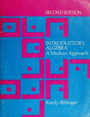Cover of: Introductory algebra: a modern approach